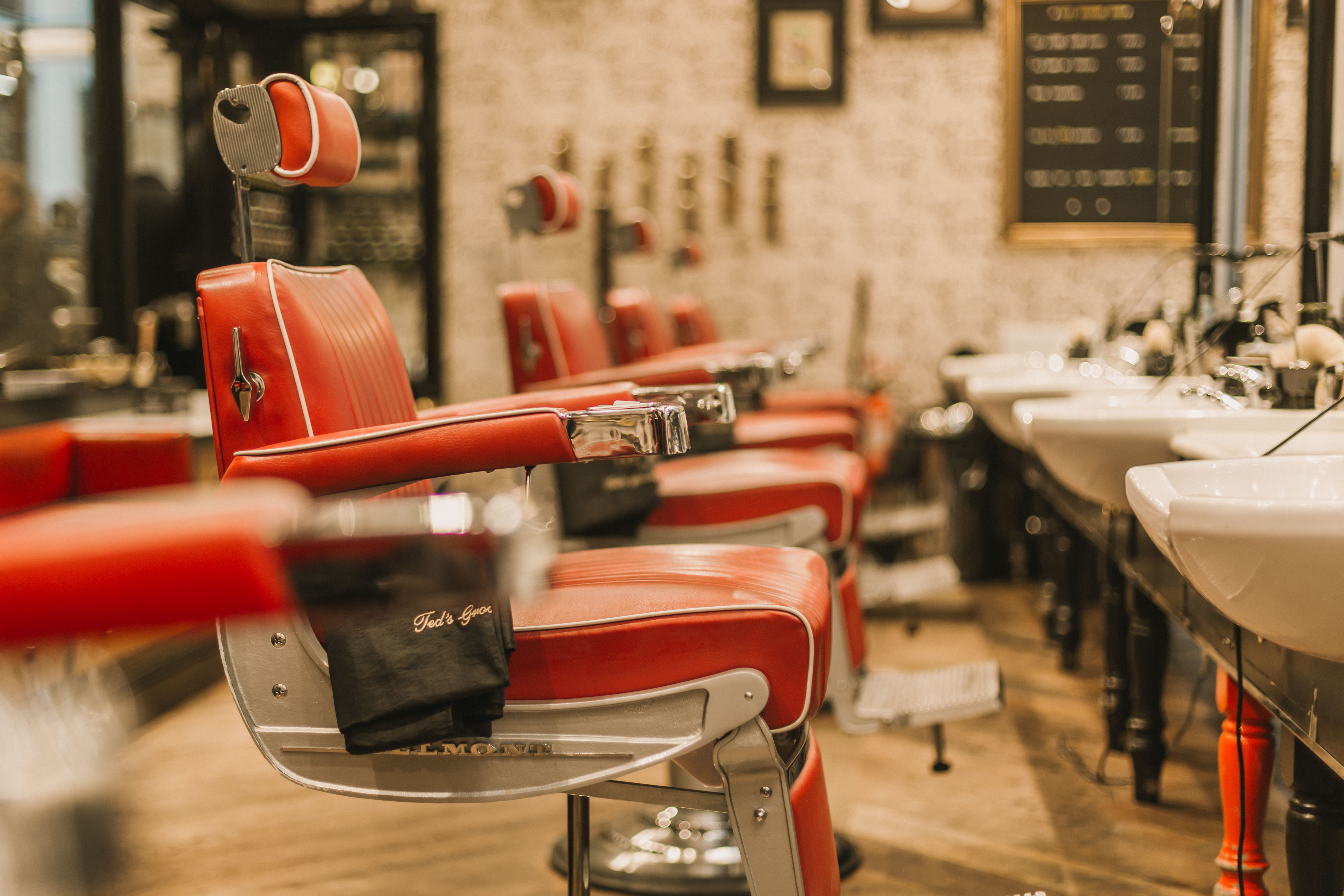 Take A Seat And Ted S Barbers Will Take Care Of The Rest Room