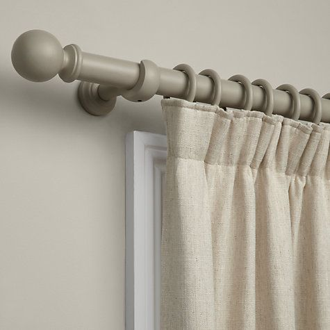 John Lewis Amp Partners Curtain Pole Kit Grey Dia 35mm