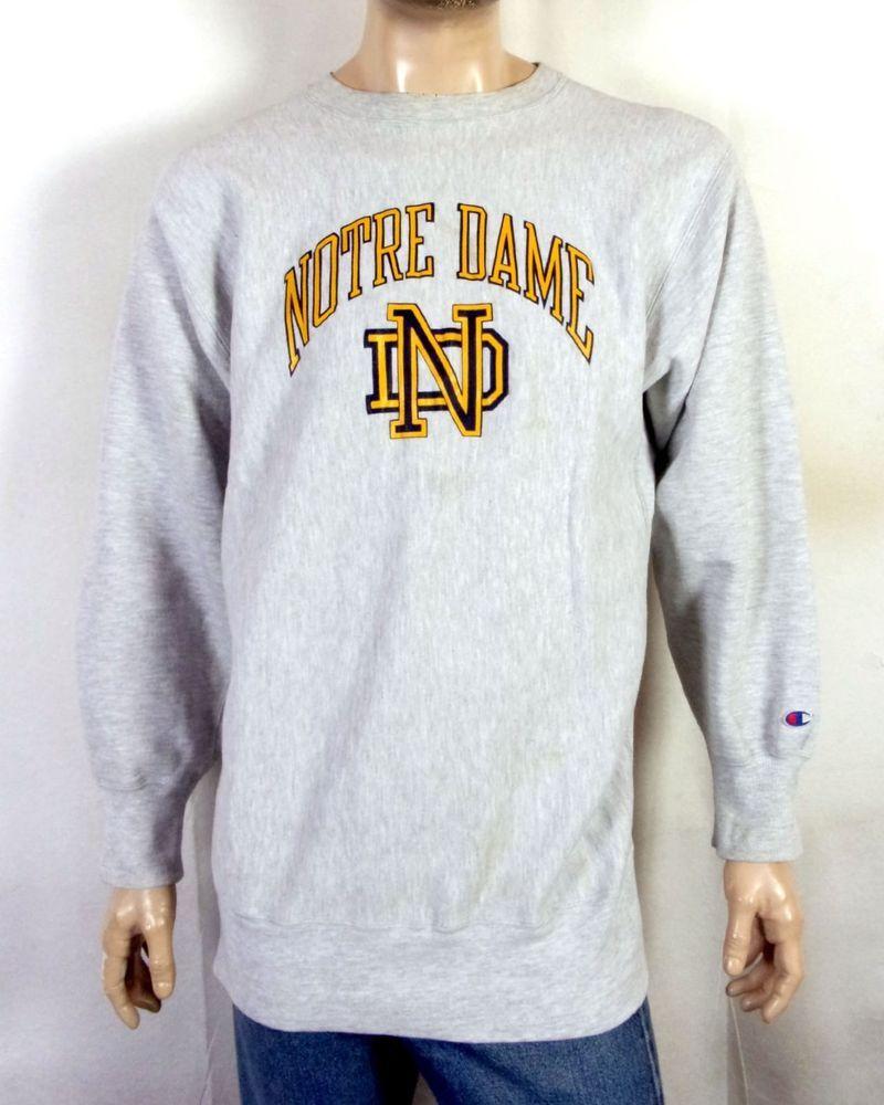 vtg 80s Champion Reverse Weave Notre Dame Fighting Irish Sweatshirt sz XXL b7c98f45ed46