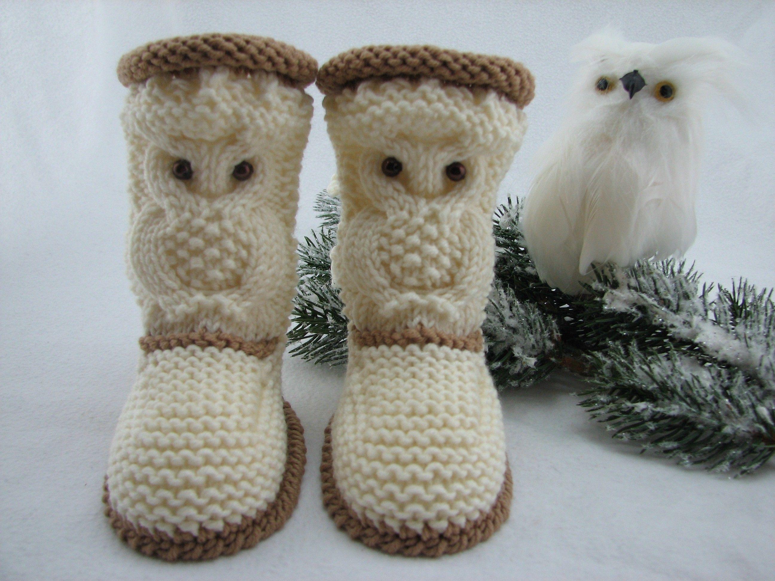Hast Du die Stiefelchen mit Eulen-Muster bereits gestrickt? Teile ...