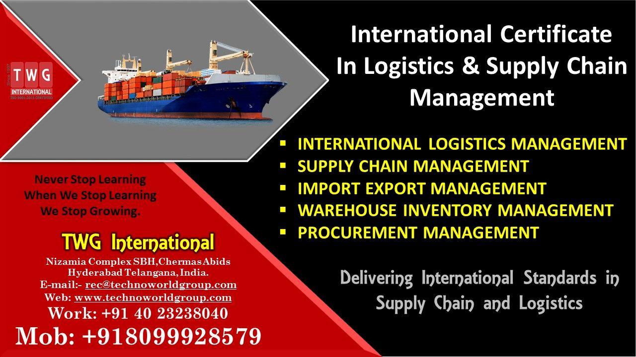 InternationalCertificate In Logistics &