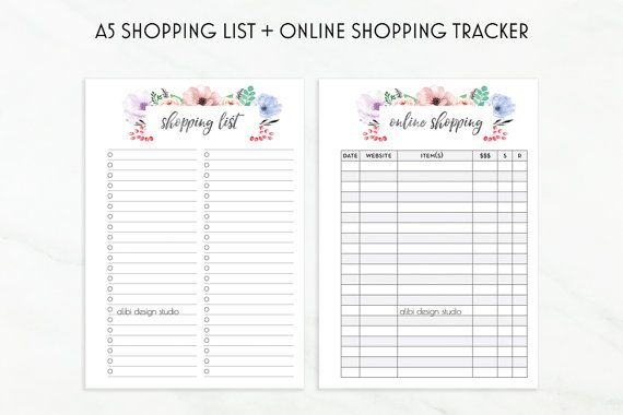 Printable Shopping List Online Shopping By Alibidesignstudio  A