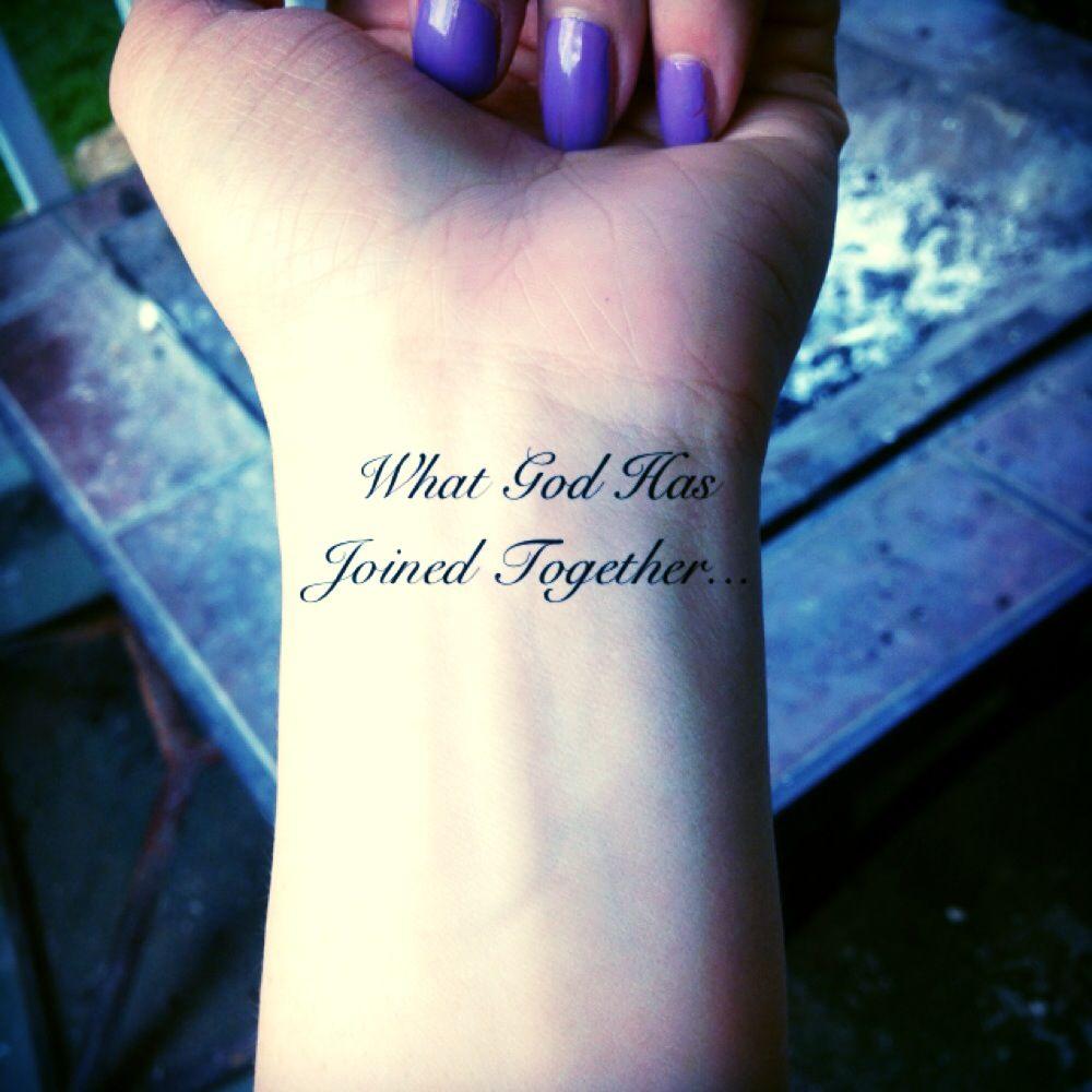 Husband And Wife Tattoo.