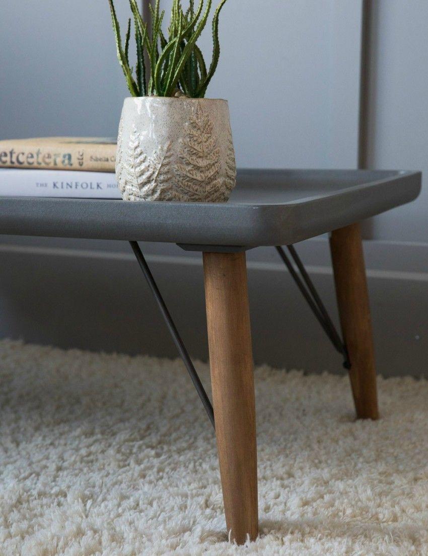 Retro Concrete Look Coffee Table At Rose Grey