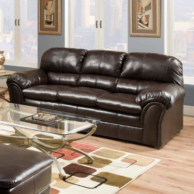 Simmons Upholstery Vintage Riverside Bonded Leather Sofa   6159 03 VINTAGE  RIVERSIDE