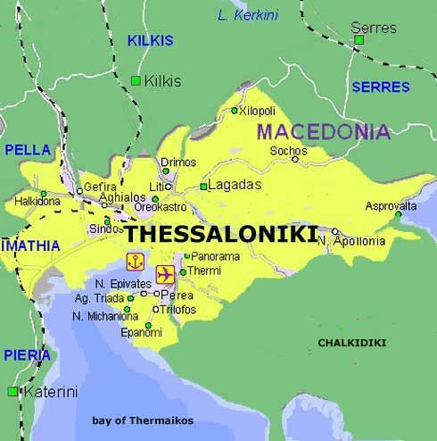thessaloniki map Romance Pinterest Thessaloniki Macedonia and