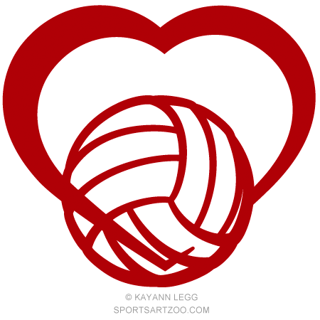 Volleyball Love Design Volleyball Designs Volleyball
