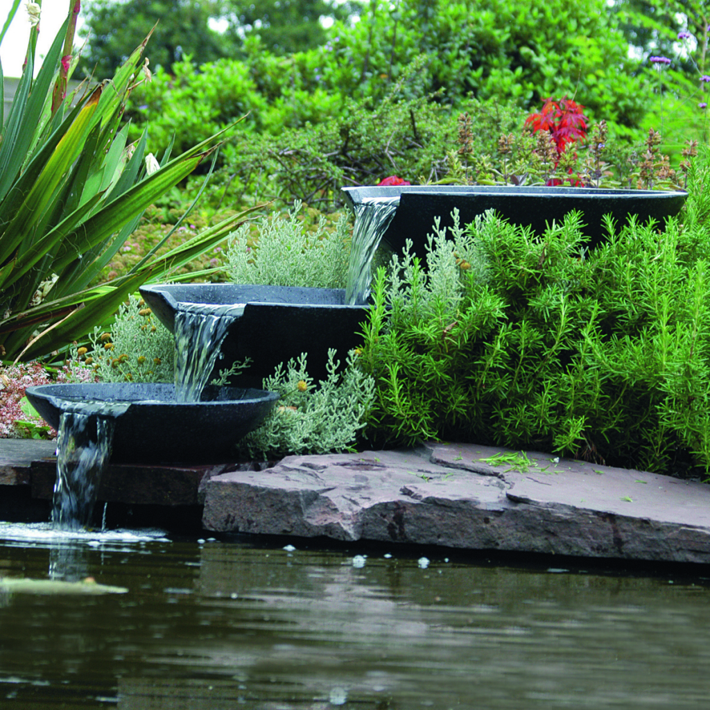 Ubbink Fontaine de jardin Cascade 3 vasques avec pompe 35/45/55 cm ...