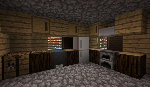 Furniture mod para minecraft 1 2 5 maincraft pinterest for Cuartos decorados minecraft