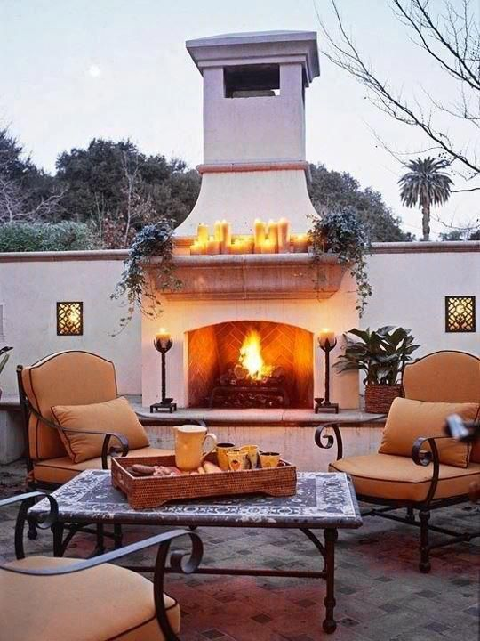 Outdoor Patio For Our New Home Love The Spanish Italian Feel