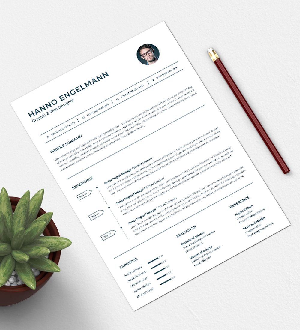 Hanno Resume Template 73777 Infographic resume, Resume