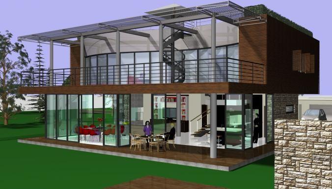 maison passive, constructeur de maison contemporaine Summer House