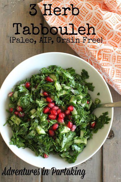Three Herb Tabbouleh Grain Free Paleo Aip Vegan
