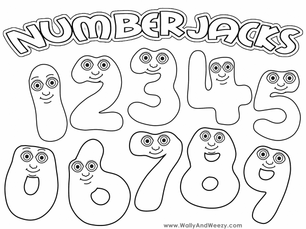Numberjacks Drawing Coloring Video And Downloadable Coloring Page Coloring Pages Cross Stitch Baby Singular And Plural