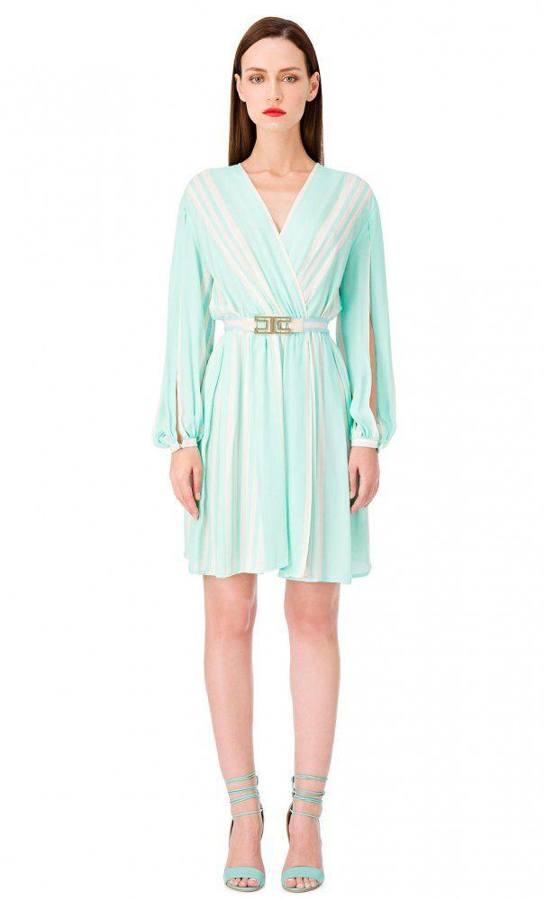 Precioso  vestido  tricolor de  ElisabettaFranchi disponible en nuestra   tienda de   5b50d0b985900