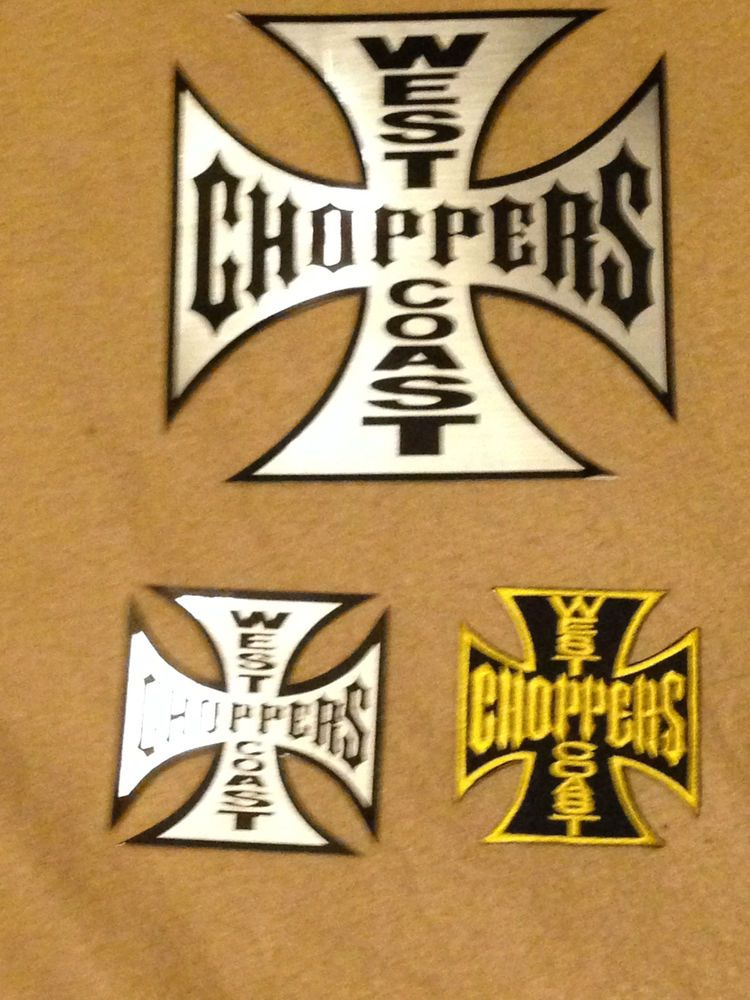 2 west coast choppers iron cross stickers decals 1 large 1 small and 1 patch
