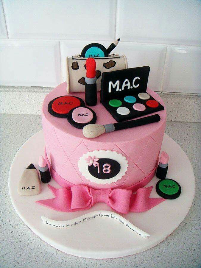 18th Birthday Make Up Cake Cake Designs Birthday Cake