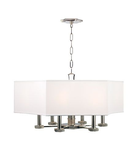 Hudson Valley Lighting Russell 6 Light Chandelier in Polished Nickel 9030-PN