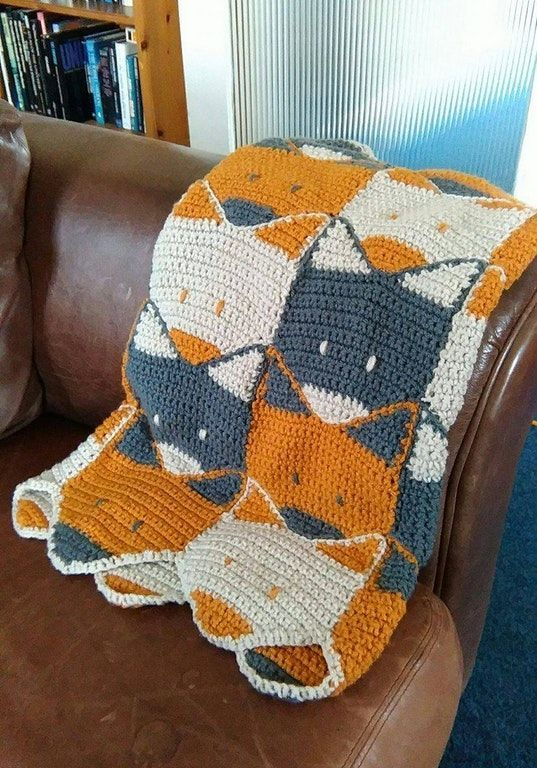 Photo of Crochet Fox Blanket my amazing step-brother has made for my baby boy i'm exp #Sk…