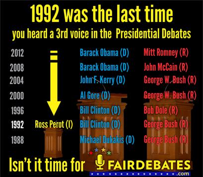 Sign The Petition For Fair Debates Presidential Debate John Mccain Debate