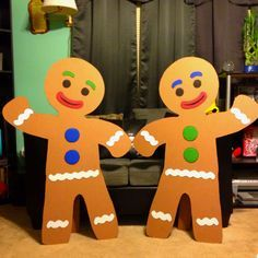 my husband made these out of cardboard for a candy land b day theme - Candyland Christmas Theme