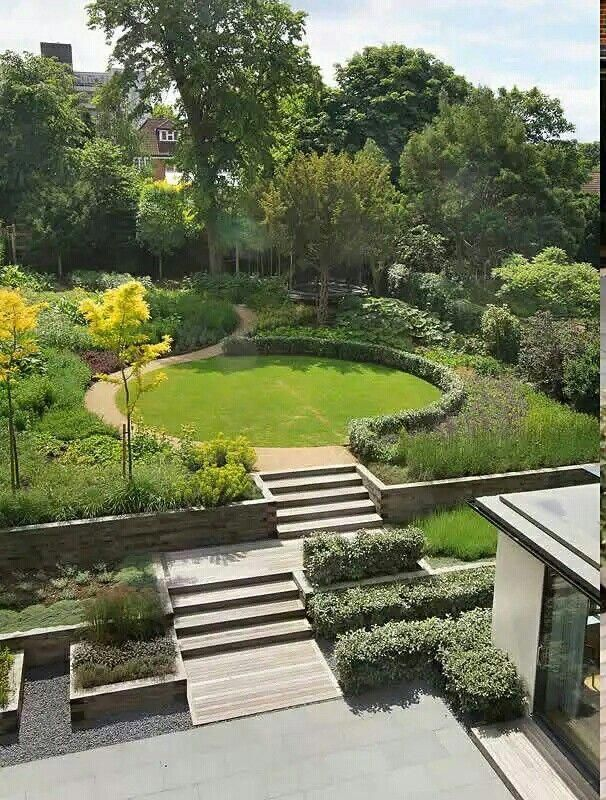 Sloping garden idea steep #contemporarygardendesign