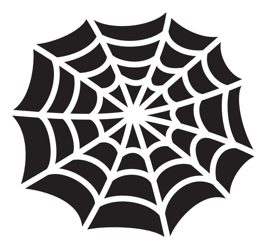 Use this spider web stencil when carving pumpkins