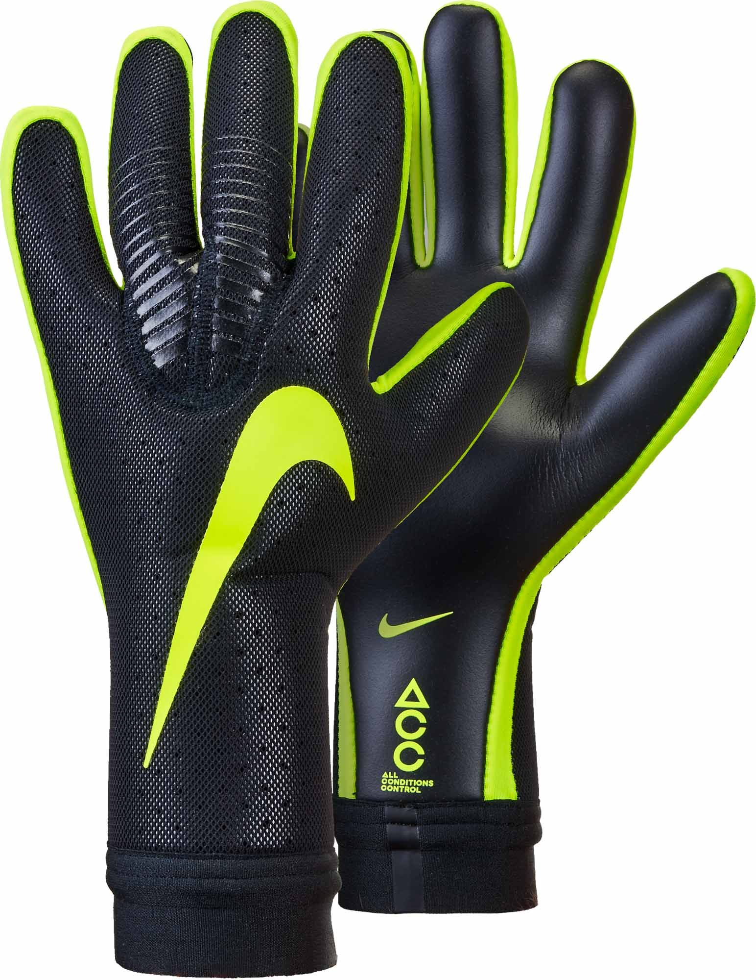 Nike Vapor Touch Goalkeeper Gloves Black Volt Soccerpro Com Goalkeeper Gloves Keeper Gloves Goalie Gloves