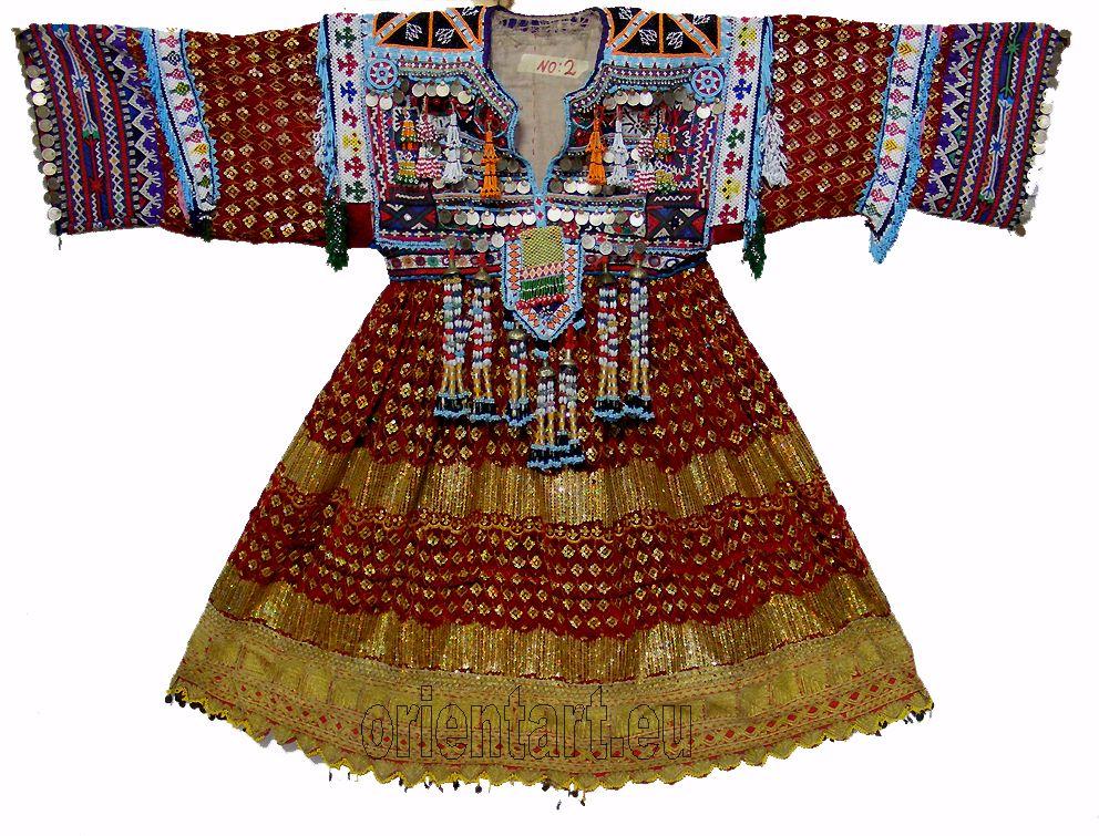 Vintage Afghanistan Ethnic Traditional Dress Costume Nomaden Afghan Kleid No 2…