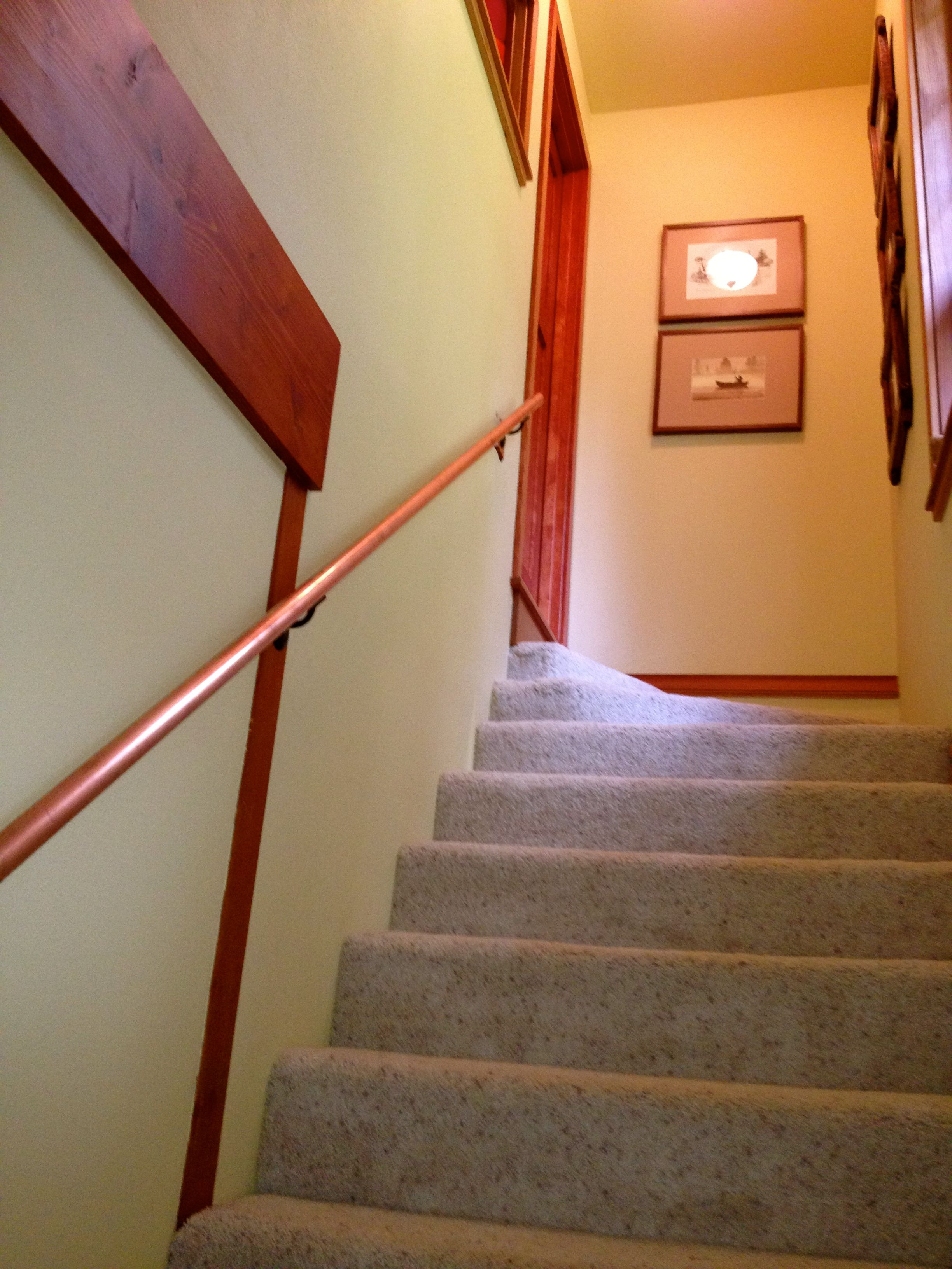 Best The Stairwell Has A New Copper Handrail And A Change Of 400 x 300