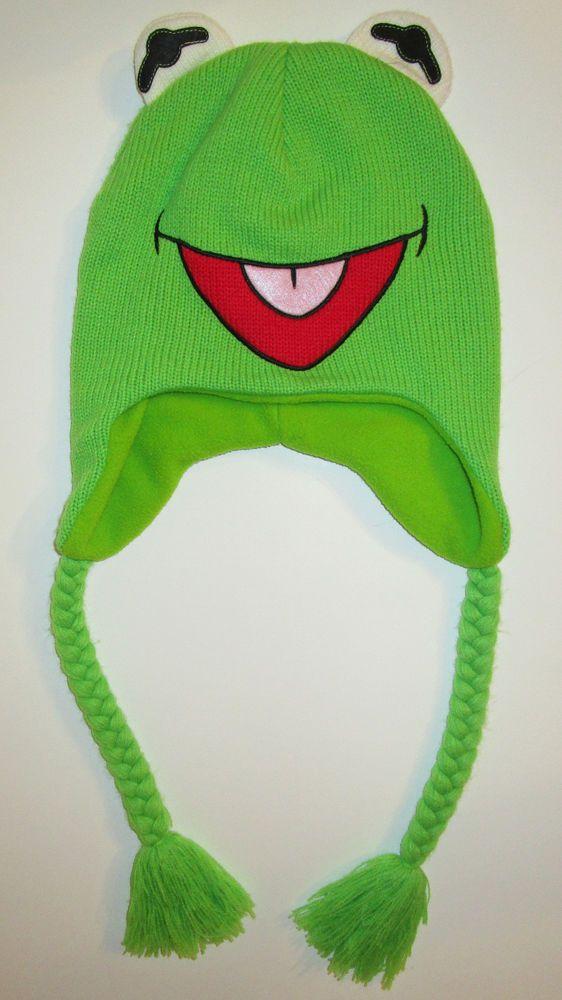72c30db6d Disney Kermit the Frog Kids Childs Fleece-Lined Knit Laplander ...