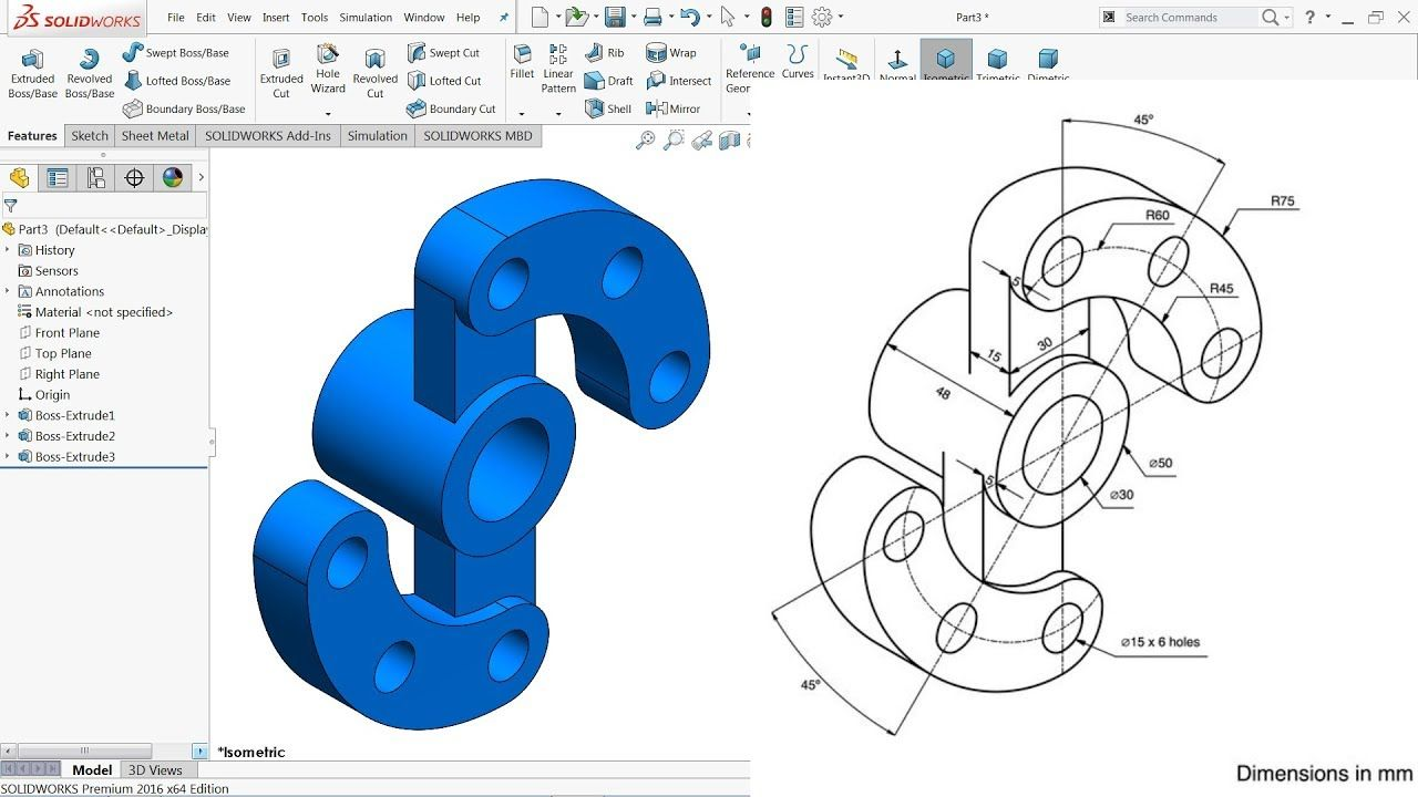 Solidworks Tutorial For Beginners Exercise 56 Youtube 3d