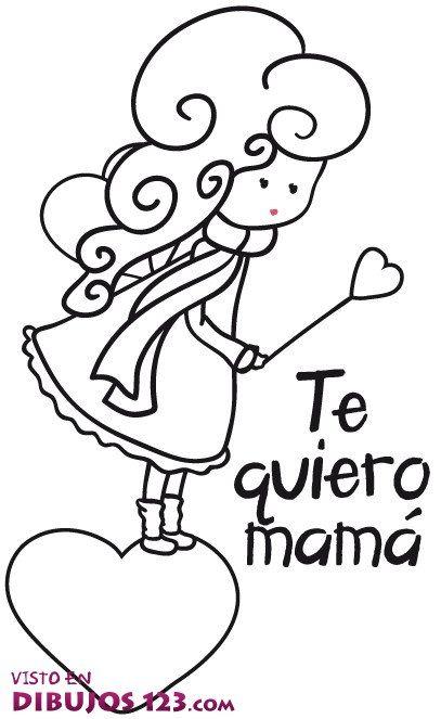 Te Quiero Mama En 2020 Dibujos Del Dia De Las Madres Dia De Las