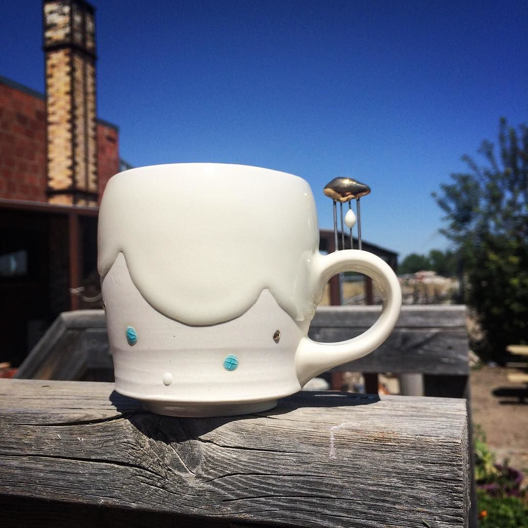 This baby is finally all glitzed up!! . . . . . . #pottery ...