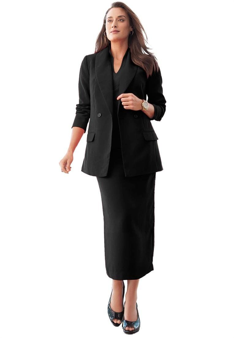 8b26f2e233c Jessica London Womens Plus Size Tall Double Breasted Skirt Suit ...