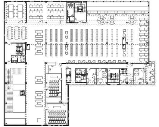 Galeria de biblioteca da universidade a02 atelier 26 for Planos de bibliotecas