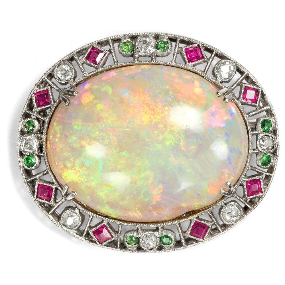 Broschen & Anstecknadeln Nadel Brosche Mit Brillant Diamant Rubin Brillant In Aus Platin Rubinen Echtschmuck