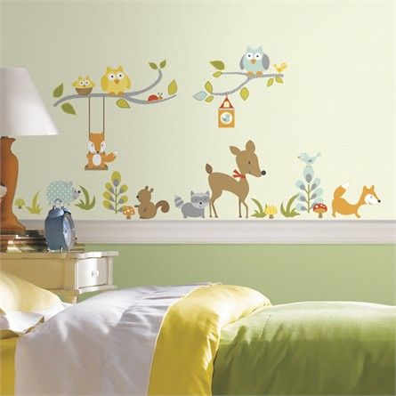 Woodland Fox And Friends Tree Wall Decals Nursery And Baby - Nursery wall decalswall stickers for nurseries rosenberry rooms