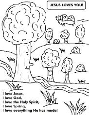 Spring Time Christian Coloring Pages Coloring Activity Pages For