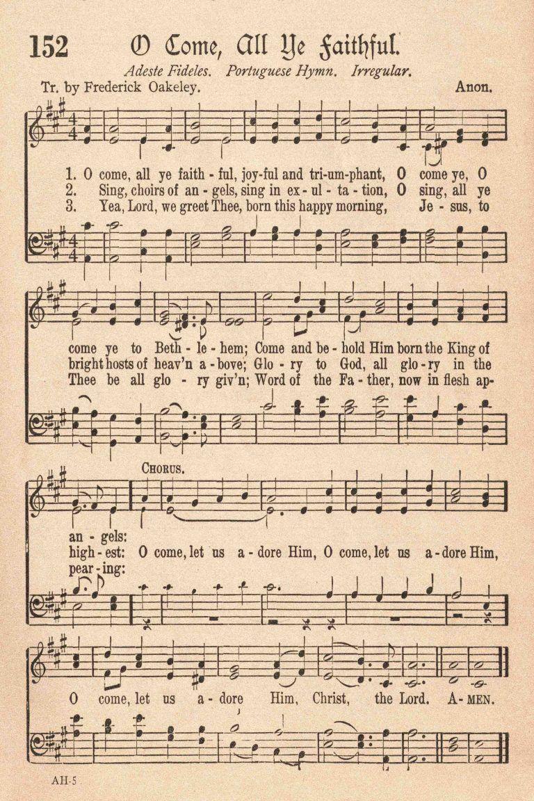Free Printable Vintage Christmas Sheet Music in 2020