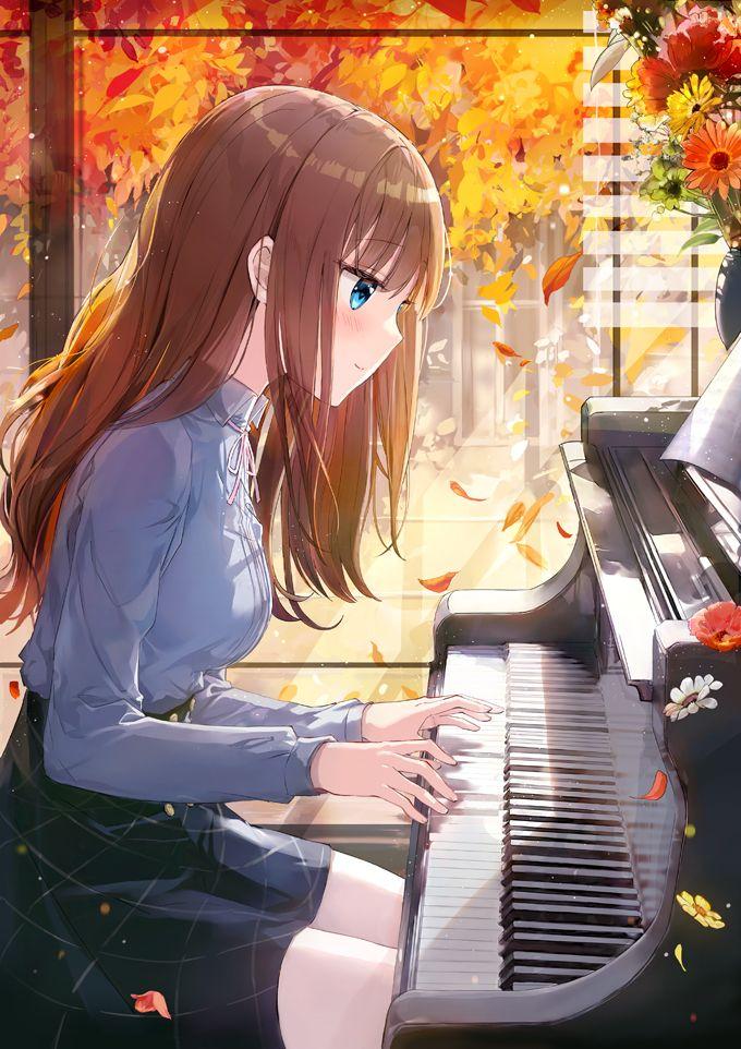 animegirl animepiano Manga anime, Anime, Hình ảnh