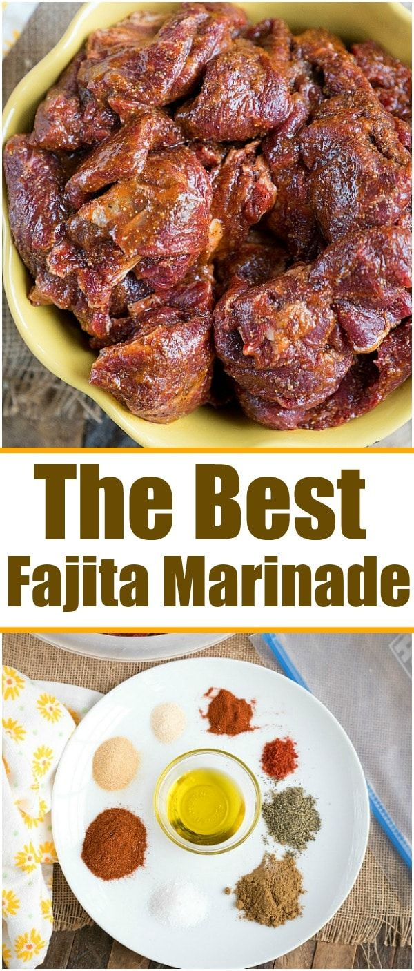 The best fajita marinade recipe is here for you to enjoy! If you're obsessed with fajitas like we are we're sharing the best beef marinade secret with you! #fajitas #marinade #beef #chicken #thetypicalmom via @pinterest.com/thetypicalmom #beeffajitarecipe