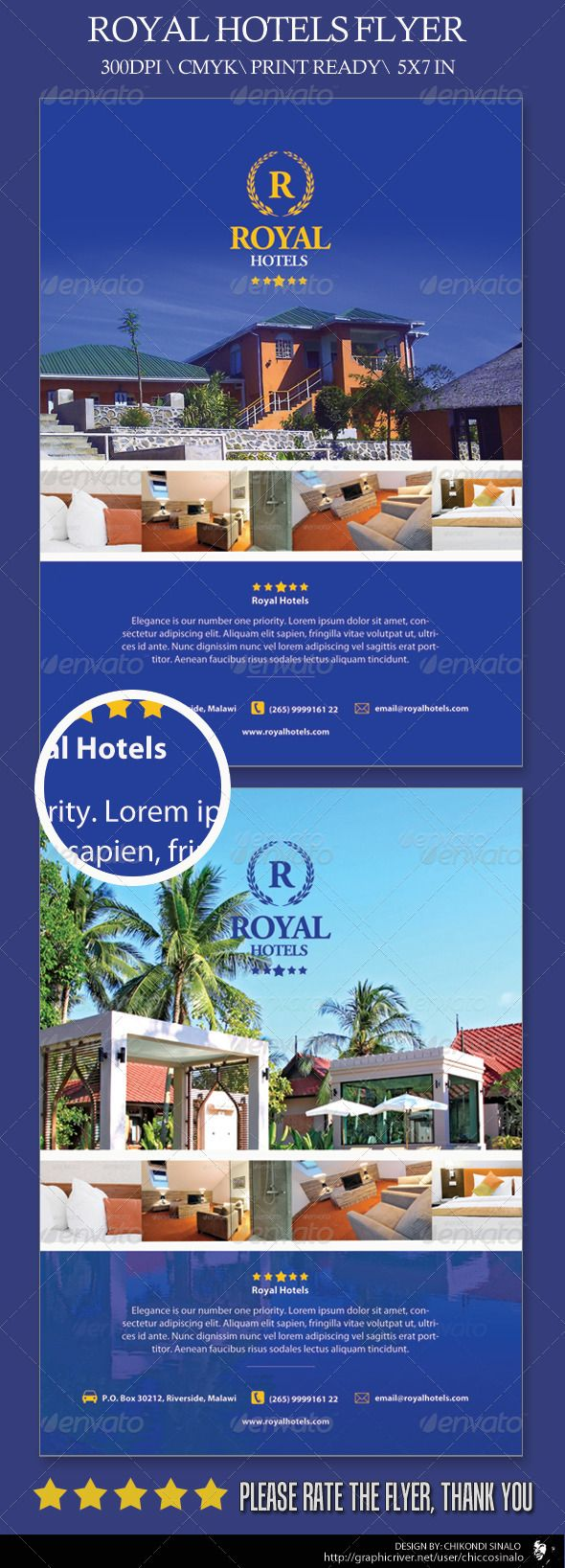 Royal Hotels Flyer Template  Flyer Template Template And Print