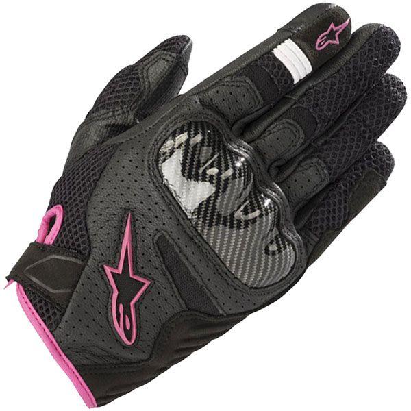 Alpinestars Stella SMX-1 Air V2 Mixed Gloves - Black / Fuchsia