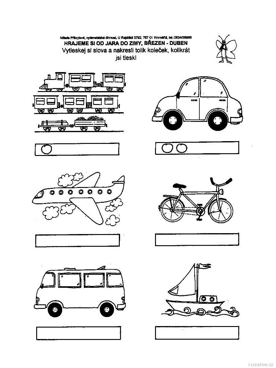 Pracovni Listy Dopravni Prostredky I Creative Cz Kreativni