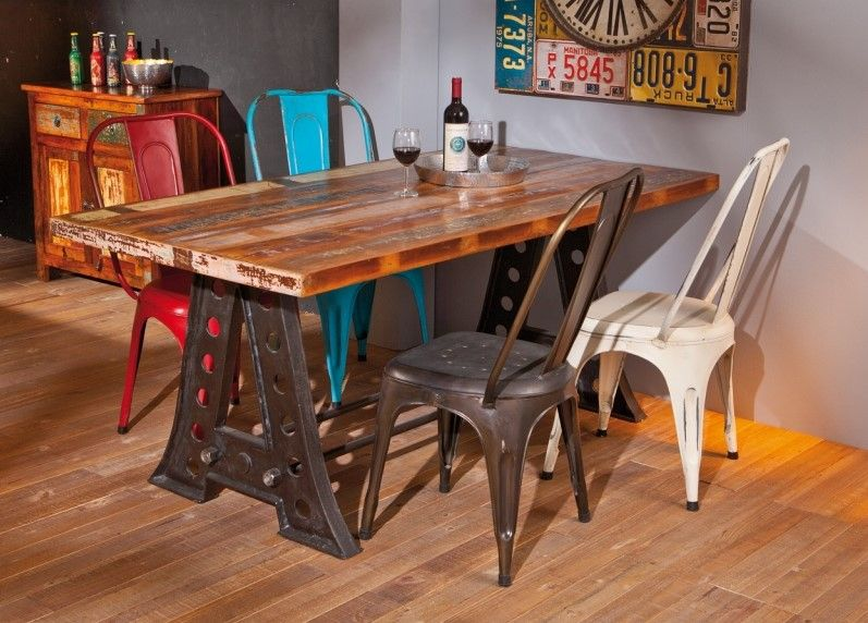 Table De Sejour Amar Pas Cher Table Ac Deco Iziva Com Meubles De Salle A Manger Moderne Dessus De Table En Bois Table A Manger Contemporaine