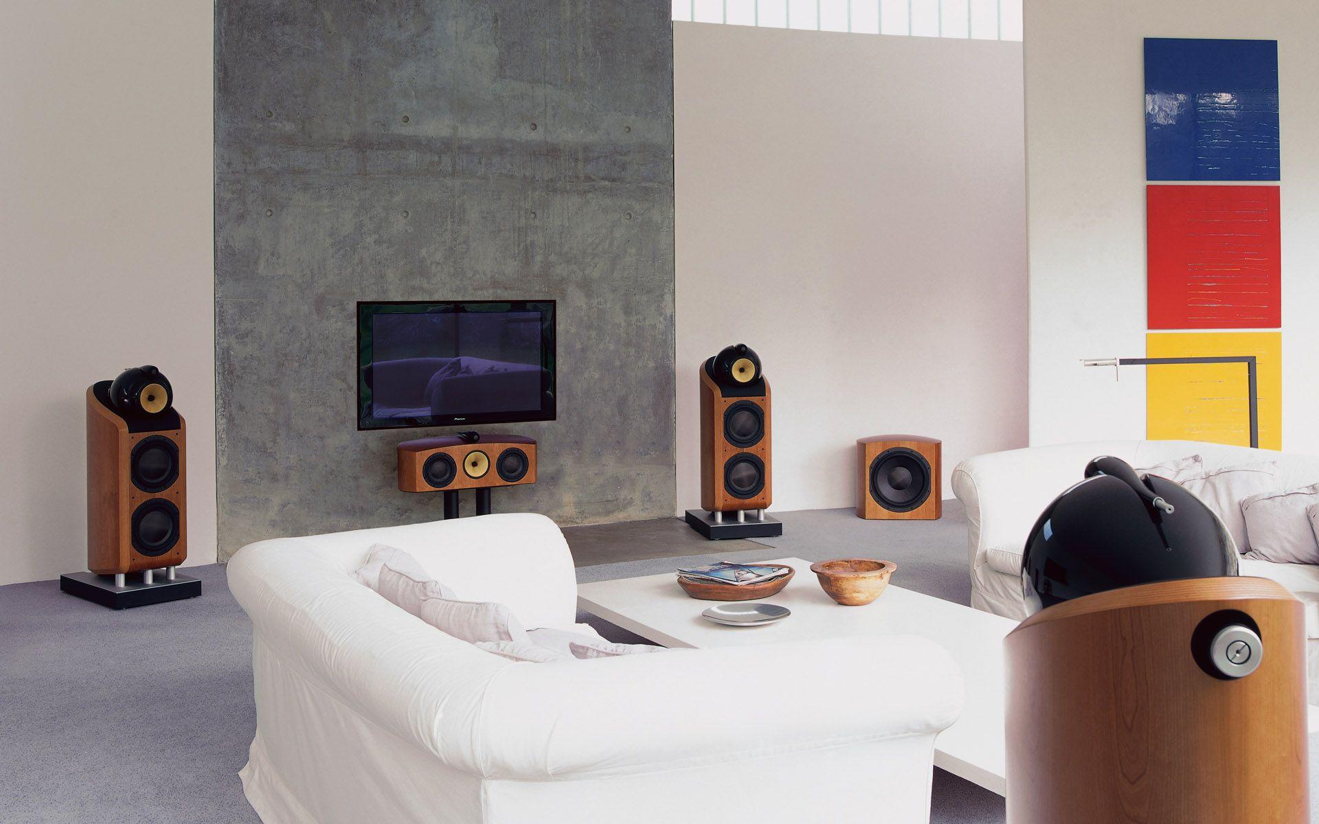 Modern White Home Entertainment Design Ideas Feats Home Theater ...