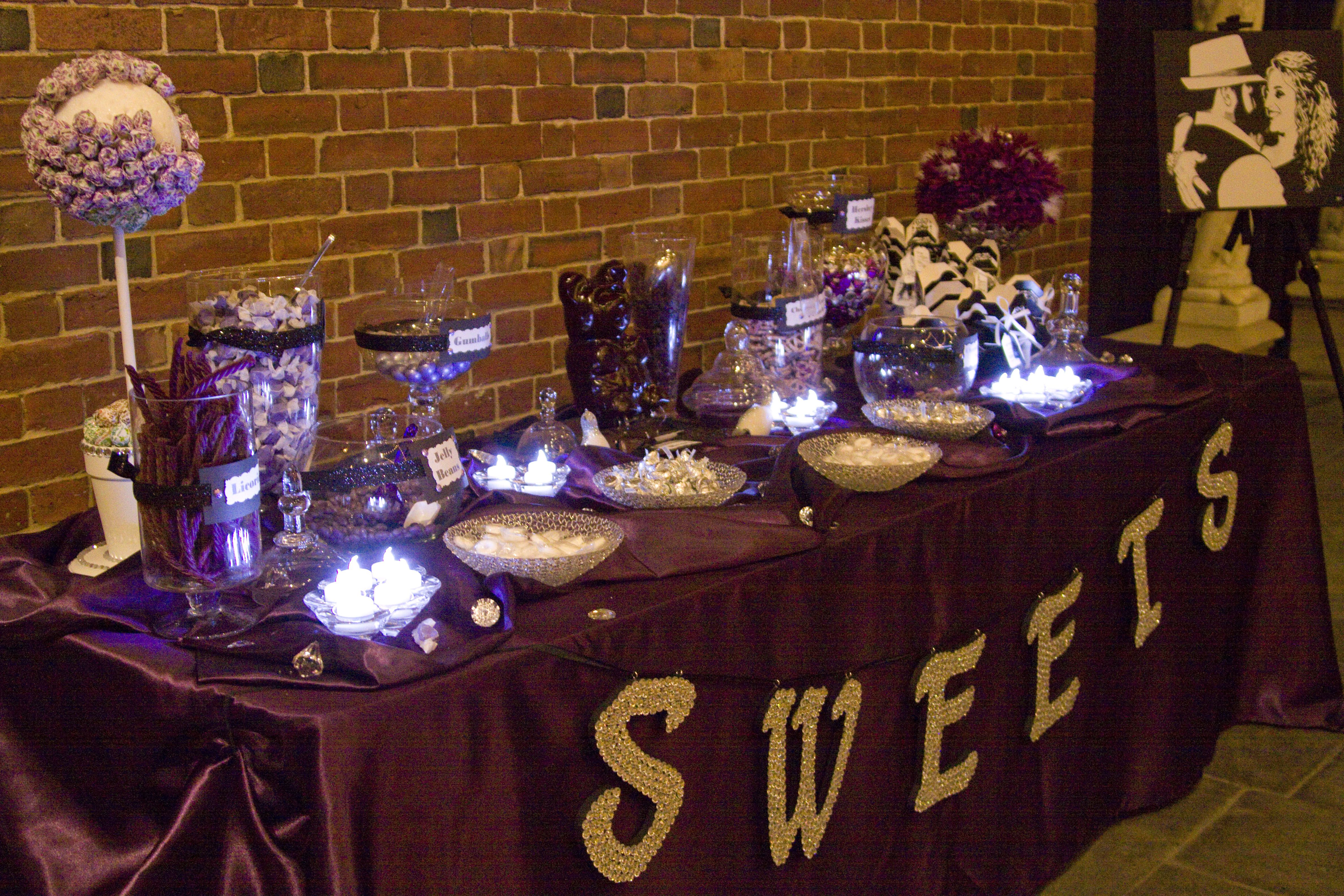 We used LED candles on the Candy Buffet, so no one would burn themselves.