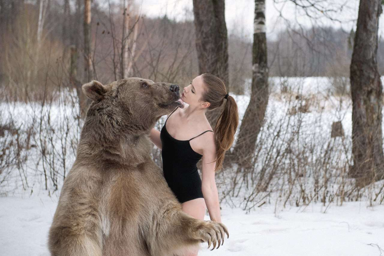 Pin By Rossi On Bear And Model Pinterest - Photographer captures fairytale like portraits women animals