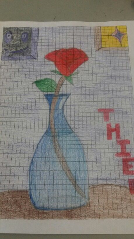 Ibs Rose In Vase Personal Drawing From Heartless134 Istragram